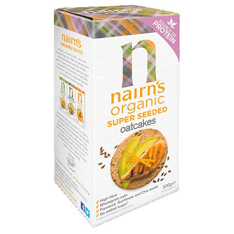 Nairn's Organic Super Seeded Oatcakes (200g) - Hatton Hill