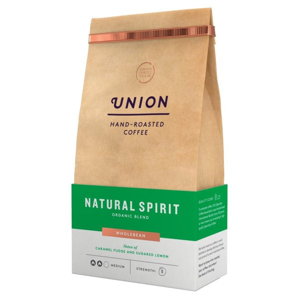 Union Natural Spirit Organic Whole Coffee Beans (500g)