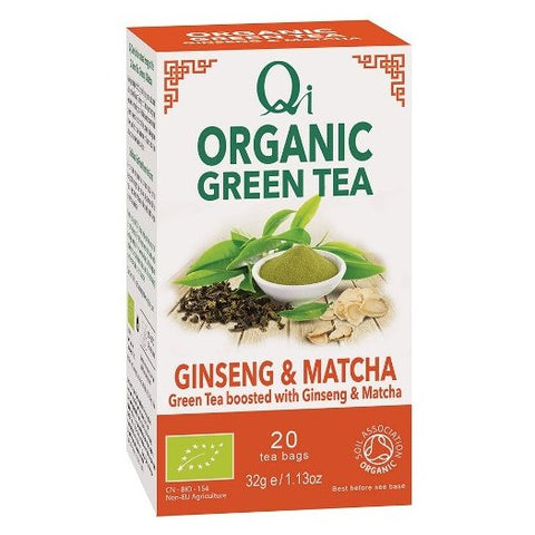 Qi Organic Green Tea, Ginseng & Matcha - Hatton Hill
