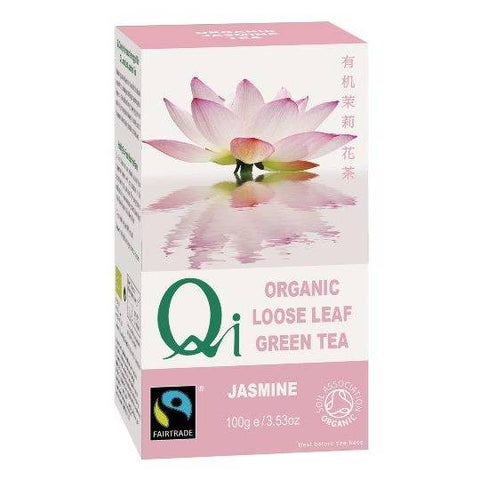 Qi Organic Loose Green Leaf Tea – Jasmine (100g) - Hatton Hill