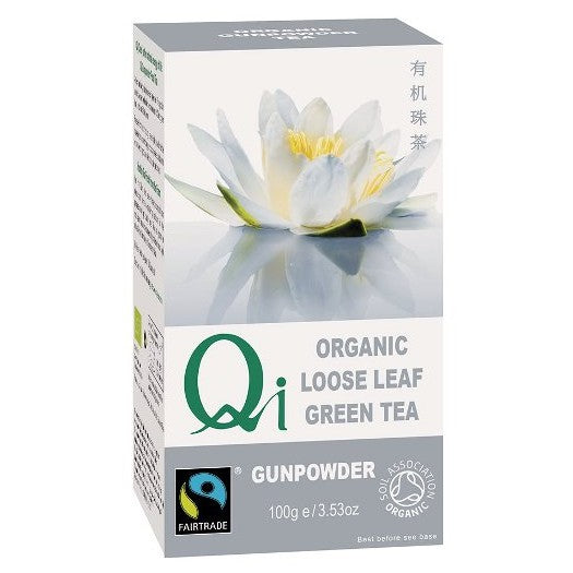 Qi Organic Loose Leaf Green Tea - Gunpowder (100g)