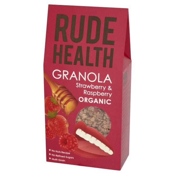 Rude Health Organic Strawberry & Raspberry Granola (450g) - Hatton Hill