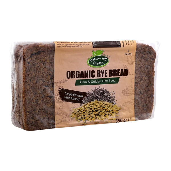 Organic Rye Bread with Chia & Golden Flax Seed (350g)