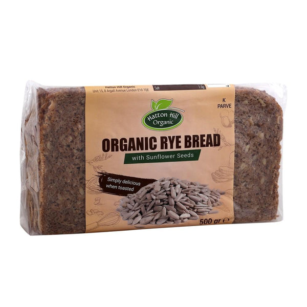 Organic Rye Bread with Sunlower Seeds