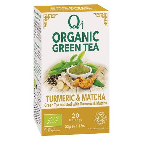 Qi Organic Green Tea - Turmeric & Matcha - Hatton Hill