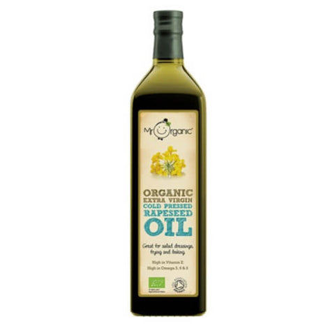 Mr Organic Extra Virgin Cold Pressed Rapeseed Oil (750ml) - Hatton Hill