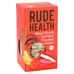 Rude Health Organic Black Rice & Turmeric Crackers 100g