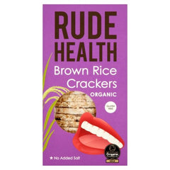 Rude Health Organic Brown Rice Crackers (130g)