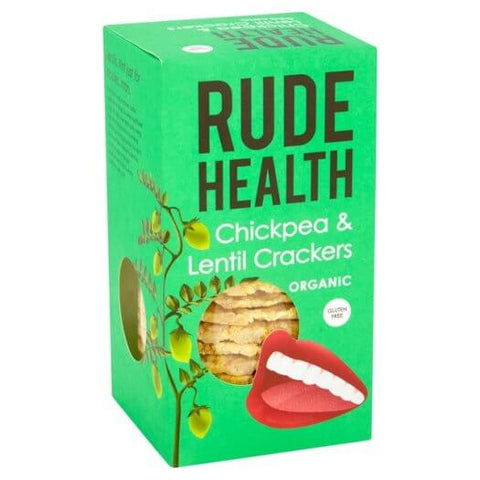 Rude Health Organic Chickpea & Lentil Crackers (120g)