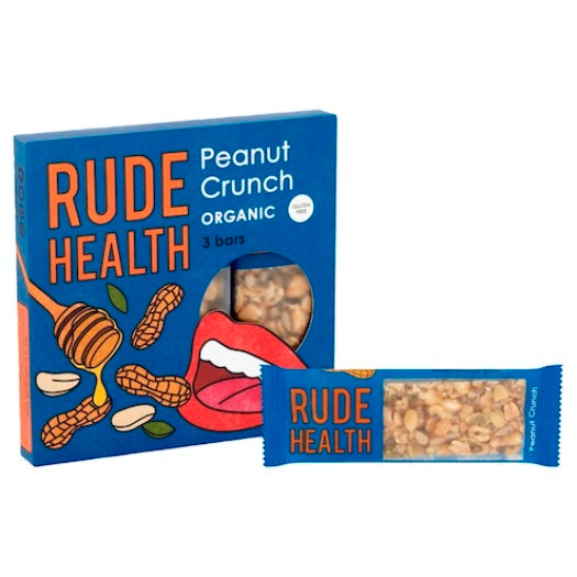 Rude Health Organic Peanut Crunch Bars (3x25g) - Hatton Hill