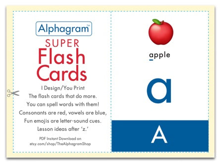 Super Flash Cards, the reading and spelling flashcards that do more