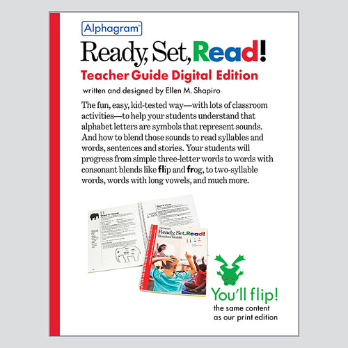Ready, Set, Read! Teacher Guide — Download Edition