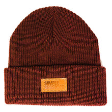 Load image into Gallery viewer, SIMPLE SESSION x ETNIES BEANIE Burgundy