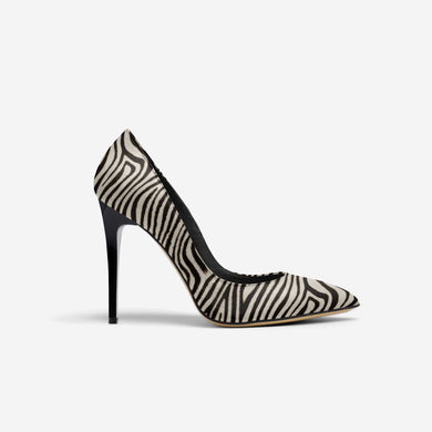 ZEBRA POINT TOE STILETTO PUMP