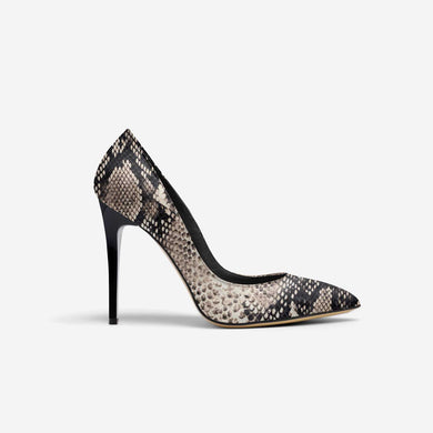 WHITE PYTHON POINT TOE STILETTO PUMP
