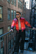 Load image into Gallery viewer, RED SUNSET BOMBER JACKET