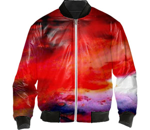 RED SUNSET BOMBER JACKET