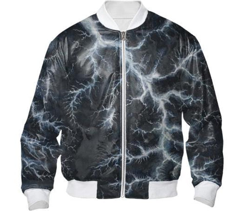 BLUE LIGHTNING BOMBER JACKET