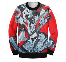 Load image into Gallery viewer, RED ABSTRACT SWEATSHIRT