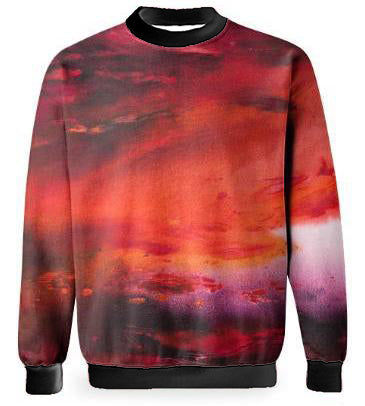 RED SUNSET SWEATSHIRT