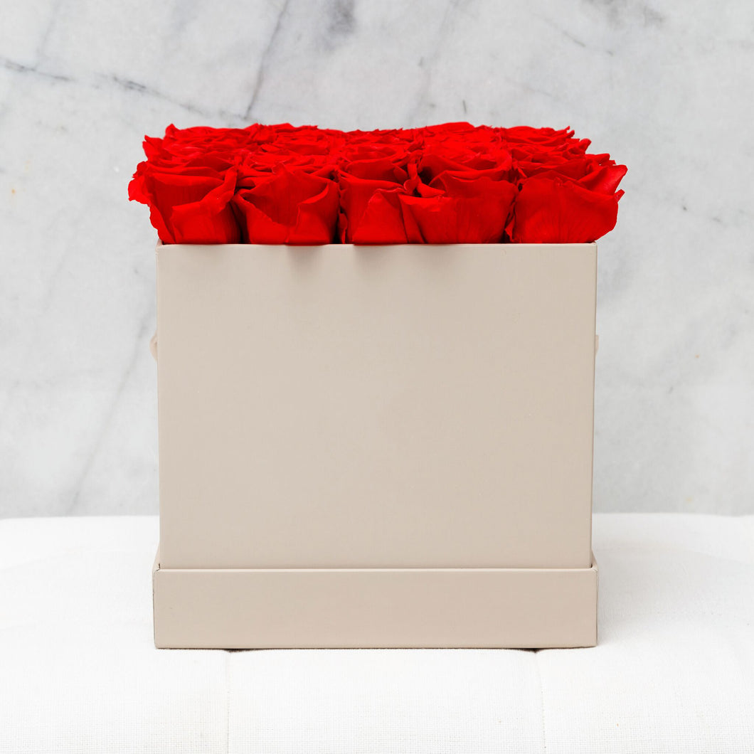 Twenty Five Red Roses in Nude Box