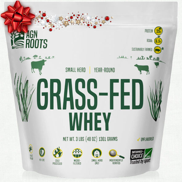 #1 Selling Grassfed Whey for 2019 - Actual Grassfed Whey! AGN Roots, Best Unflavored Grassfed Whey.