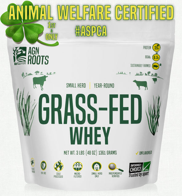 #1 Grassfed Whey for 2020 - Actual Grassfed Whey! AGN Roots, Best Unflavored Grassfed Whey.