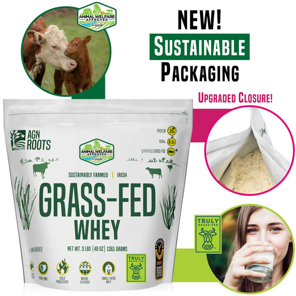 Best Grass-Fed Whey 2021 Sustainable & Flexible Pouch - AGN Roots