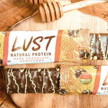 Load image into Gallery viewer, EHP Labs LUST Natural Protein Bar- Dark Chocolate Honeycomb
