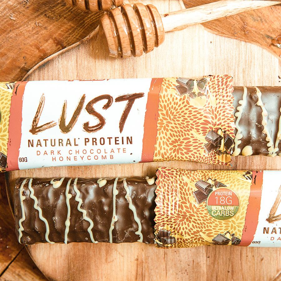 EHP Labs LUST Natural Protein Bar- Dark Chocolate Honeycomb