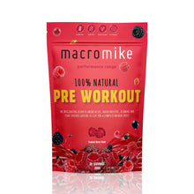 Load image into Gallery viewer, Macro Mike 100% Natural Pre Workout- Tropical Berry Blast / 30 Serves