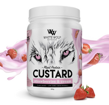 Load image into Gallery viewer, White Wolf Plant Protein Custard / 25 Serves