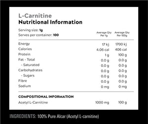 Switch Nutrition Carnitine / 100 Serves
