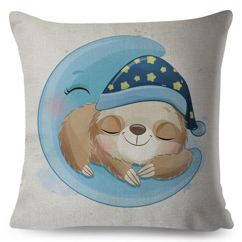 Sleep Tight Sloth Cushion Cover