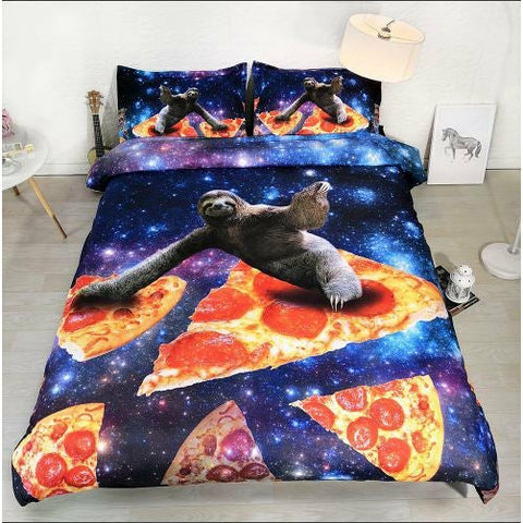 Pizza Sloth Bedding Set