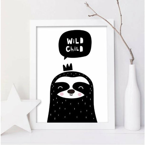 Image of Sloth Lost Child Poster - Sloth Gift shop