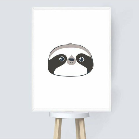 Circle Face Sloth Poster - Sloth Gift shop