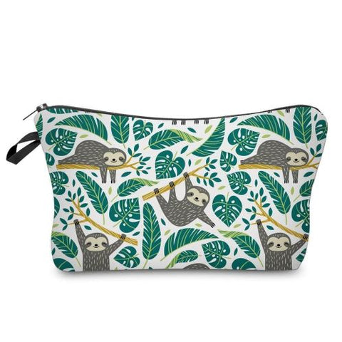 Image of Sloth in Forest Makeup Bag - Sloth Gift shop