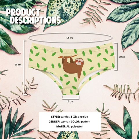 Image of Leafy Underwear - Sloth Gift shop