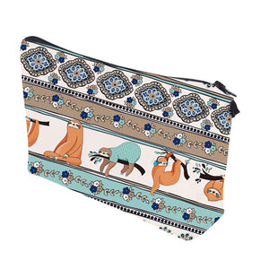 Aztec Sloth Makeup Bag - Sloth Gift shop