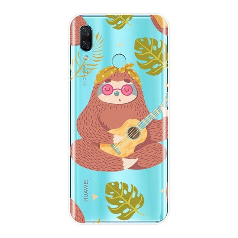 Image of Hippie Sloth Huawei Case - Sloth Gift shop