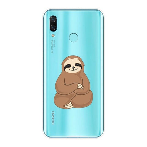 Image of Indian Sit Sloth Huawei Case - Sloth Gift shop