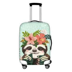 Aloha Sloth Luggage and Suitcase Cover - Sloth Gift shop