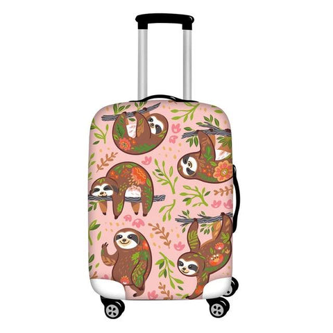 Pinky Sloth Luggage Cover