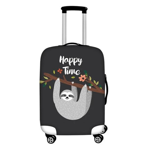 Happy Time Luggage Cover