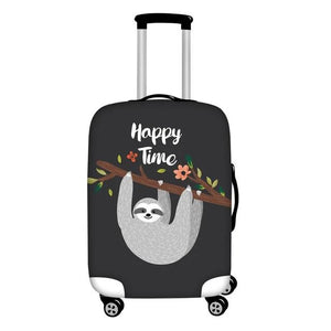 Happy Time Luggage and Suitcase Cover - Sloth Gift shop