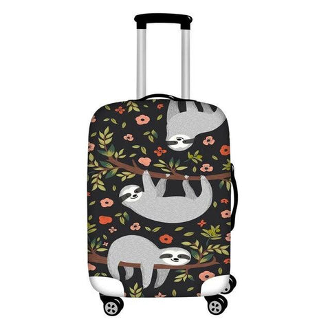 Flower Sloth Luggage Cover