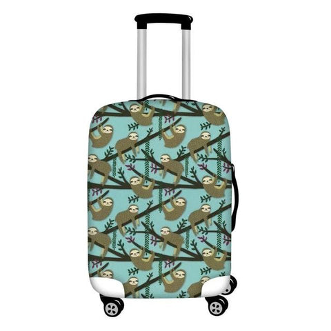 Logs Sloth Luggage Cover