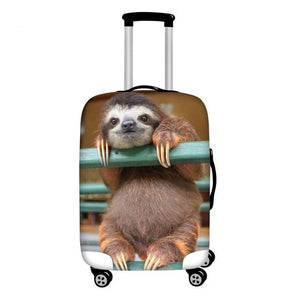 Watching Sloth Luggage and Suitcase Cover - Sloth Gift shop