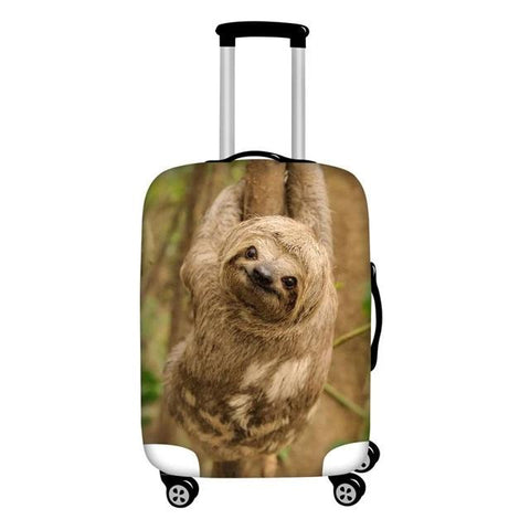 Brown Sloth Luggage Cover